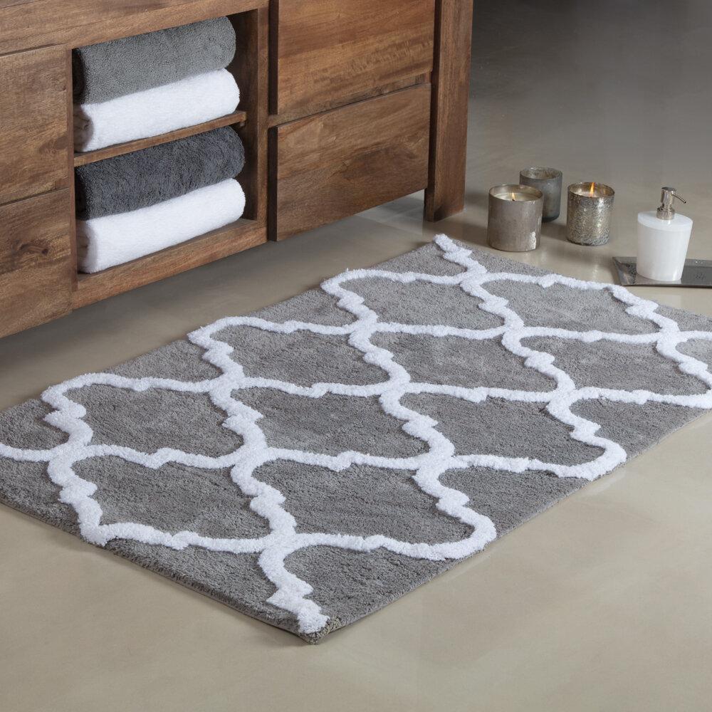 Otisville Quatrefoil Rectangular 100 Cotton Geometric Bath Rug Reviews Birch Lane