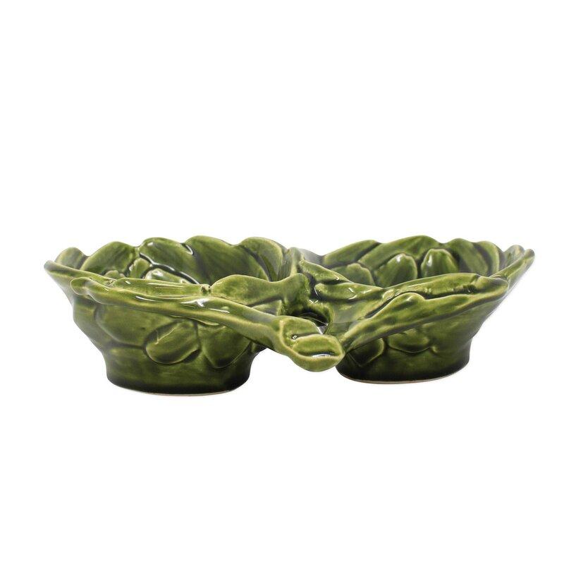 Vietri Artichokes Figural Divided Serving Dish Wayfair