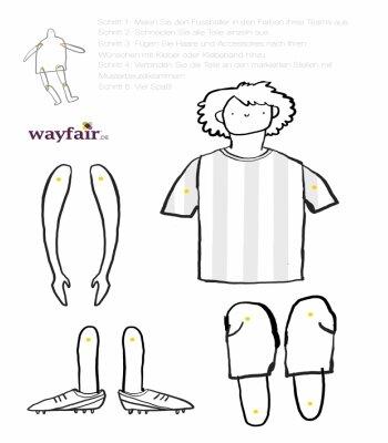 Diy Fussballer Aus Papier Basteln Wayfair De
