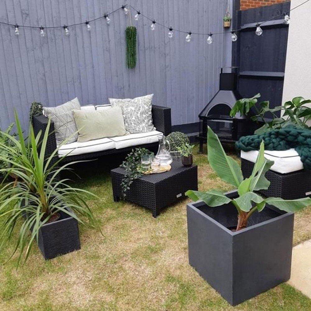Contemporary Smooth Stone Planter Box
