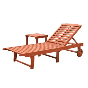 Longshore Tides Casto Reclining Chaise Lounges Set with Table
