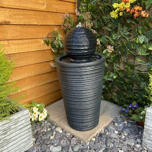 Osian Resin Solar Water Feature With Light By Sol 72 Outdoor