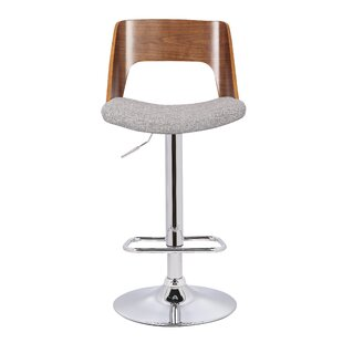 Saundra Adjustable Height Swivel Bar Stool by Orren Ellis