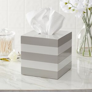 Imogen Striped Lacquer Tissue Box Cover