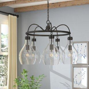 Laurel Foundry Modern Farmhouse Nan 5-Light Shaded Chandelier