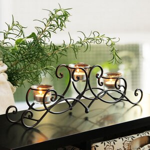 Iron Candelabra Candle Holder