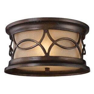 Astoria Grand Boarstall 2-Light Ceiling Flush Mount