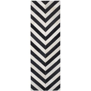 Deals Drage Hand-Knotted Black/White Area Rug By Bloomsbury Market