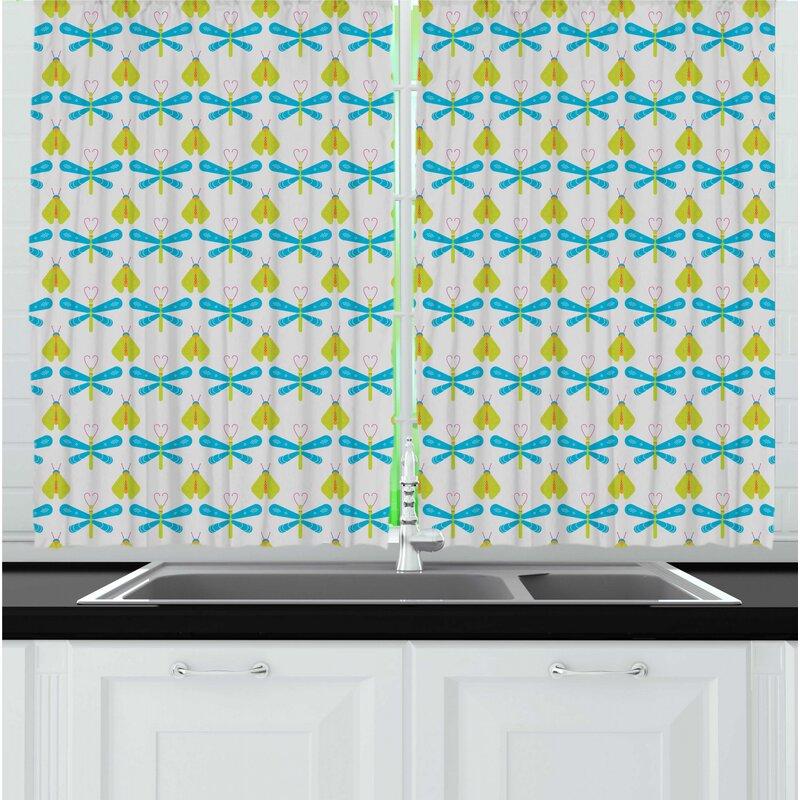 East Urban Home Firefly Kitchen Curtain Wayfair