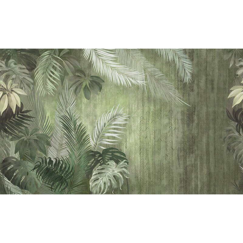 Bay Isle Home Ellenburg Tropical Monochrome Exotic Leaves Wall Mural Wayfair Leaves, plants, flowers, fruits, seeds, nuts, buds roses are beautiful, but there are countless groups for them. ellenburg tropical monochrome exotic leaves wall mural