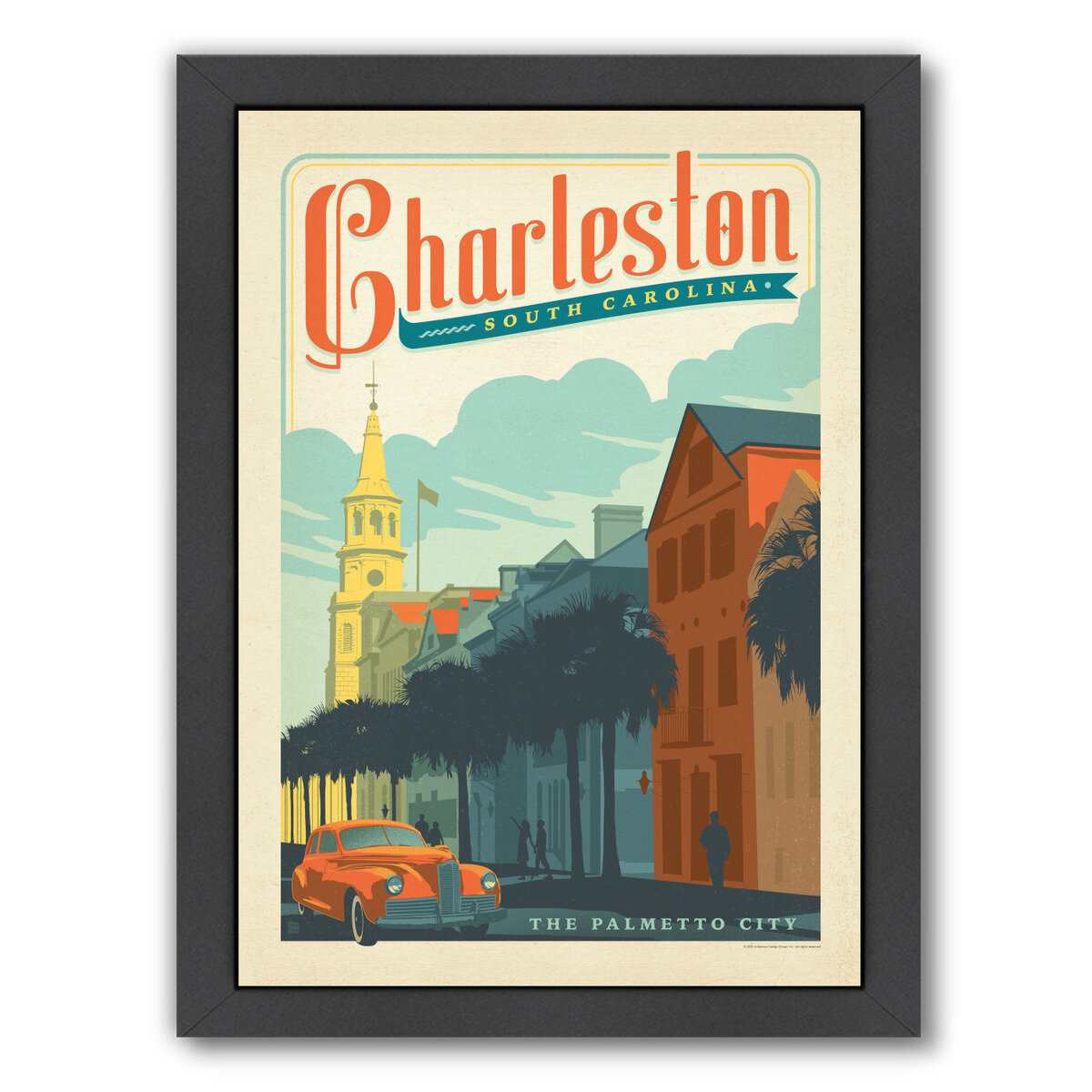 George Oliver Charleston By Anderson Design Group Framed Vintage Advertisement Reviews Wayfair