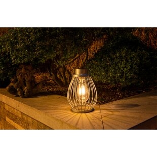 Verrill Silver Solar Powered LED Outdoor Lantern Image