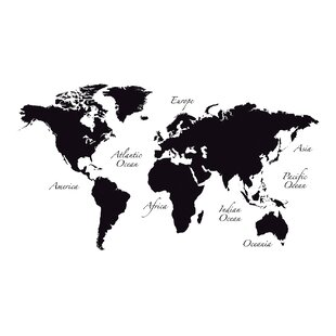 World map decal wayfair world map wall decal gumiabroncs Choice Image