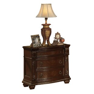 Michaels Traditional Wooden 3 Drawer Nightstand