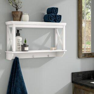 Wall Shelves With Towel Hooks Wayfair