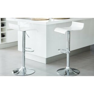 Neilsen Adjustable Height Swivel Bar Stool (Set of 2) by Orren Ellis