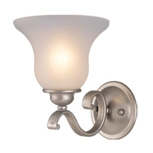 Trend Enfield 1-Light Glass Shade Wall Sconce By Three Posts
