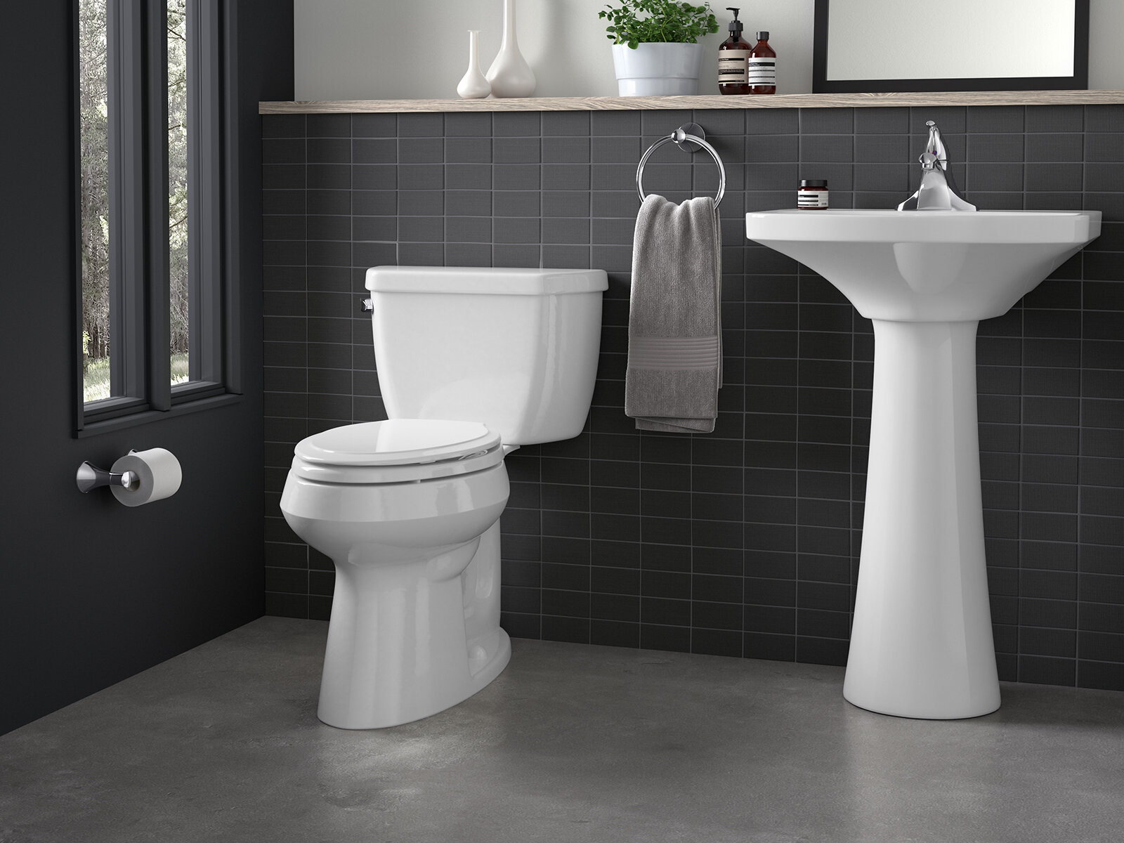 K 3658 0 7 96 Kohler Highline 1 28 Gpf Water Efficient Elongated Two Piece Toilet Seat Not Included Reviews Wayfair