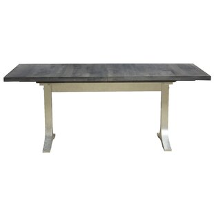 Bjorn Burnished Extendable Solid Wood Dining Table
