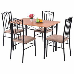 Rossi 5 Piece Dining Set by Fleur De Lis Living Best Designt