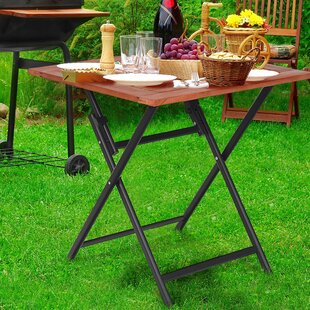 Wilmot Folding Aluminum Dining Table