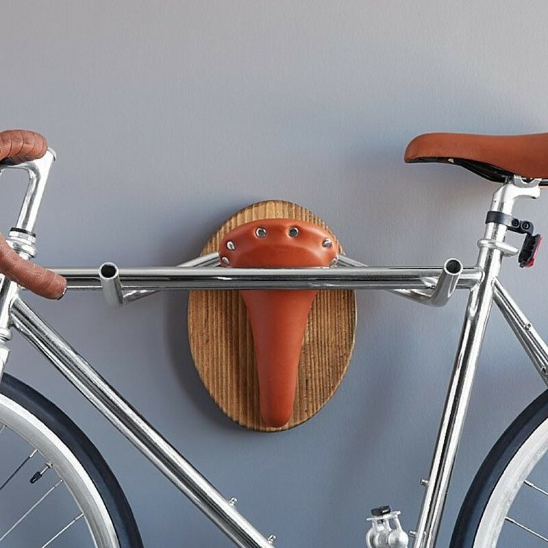 taxidermy the longhorn wall mounted bike rack