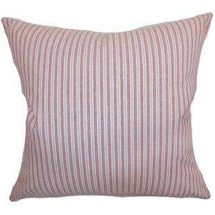 Debrah Stripes Cotton Throw Pillow