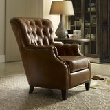 37'' Wide Tufted Genuine Leather Full Grain Leather Club Chair