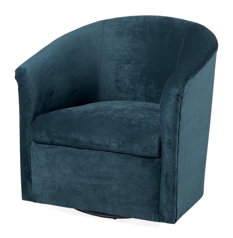 Galen Swivel Barrel Chair Amp Reviews Birch Lane