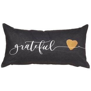 Grateful Sentiment Cotton Lumbar Pillow