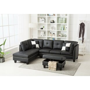 Redner Sectional with Ottoman by Winston Porter