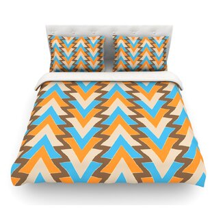 My Triangles by Julia Grifol Featherweight Duvet Cover