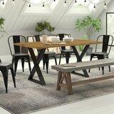 Table de salle à manger en bois massif Esposito