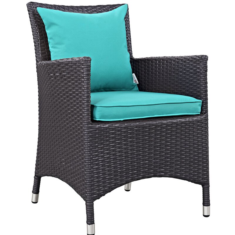 """Sol 72 Outdoor  Brentwood 11 Piece Dining Set with Cushion Table Size: 90.5"""" L x 63"""" W, Fabric Color: Turquoise"""