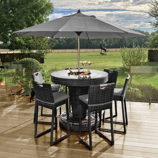 6 Seater Bar Set With Cushions And Ice Bucket Image