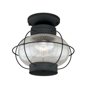Breakwater Bay Sanibel 1-Light Flush Mount