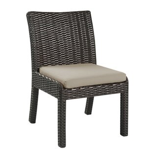 Steinhatchee Outdoor Patio Dining Chair with Cushion (Set of 2)