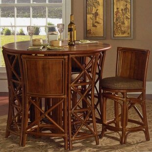 Pub Table Set South Sea Rattan
