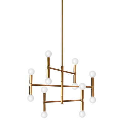 Severine 12 Light Sputnik Chandelier Wrought Studio Size 13 H X 208 W X 45 D Finish Bronze
