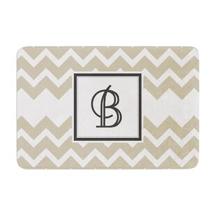 Monogram Chevron Memory Foam Bath Rug