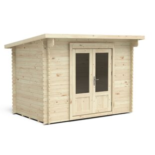 Vestavia 10 X 8 Ft. Tongue & Groove Log Cabin By Sol 72 Outdoor