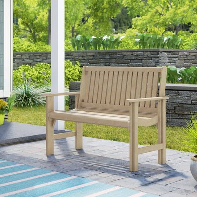 Alanna Plastic Garden Bench Beachcrest Home Color: Beige