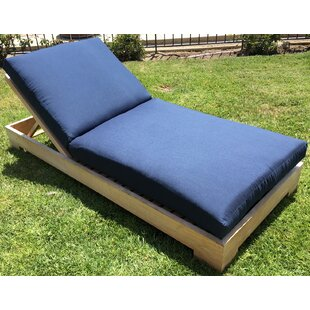 Weston Reclining Teak Chaise Lounge with Cushion (Set of 2)