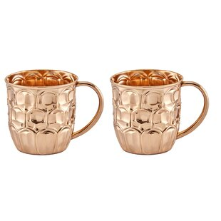 20 oz. Solid Copper Beer Krug (Set of 2)