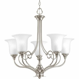 Fleur De Lis Living Terrie 5-Light Shaded Chandelier