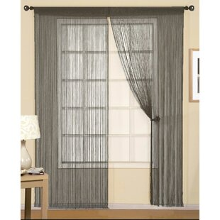 Pull Cord Federico String Solid Sheer Outdoor Rod Pocket Curtain Panels Set Of 2