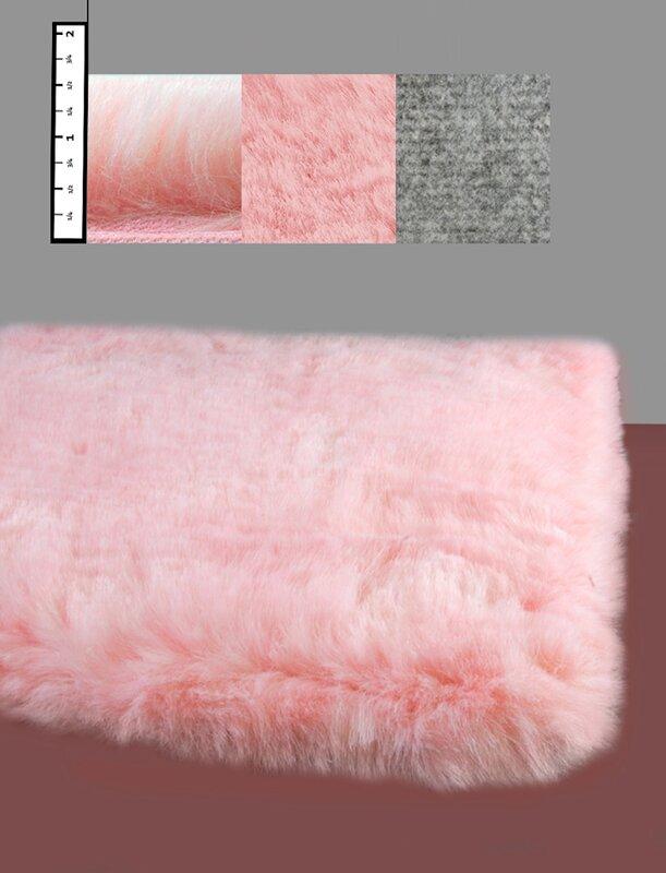 Benes Faux Flokati Pink Area Rug