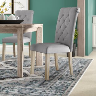 Alethea Binningen Button Tufted Upholstered Dining Chair (Set of 2)