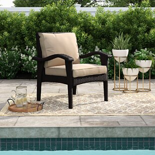 Hagler Patio Chair with Cushion (Set of 2)