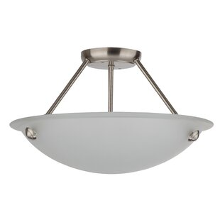 Kirsten 3-Light Semi Flush Mount by Whitfield Lighting